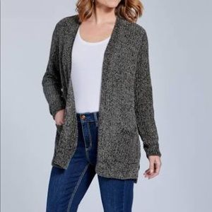 Seven7 olive green knitted cardigan